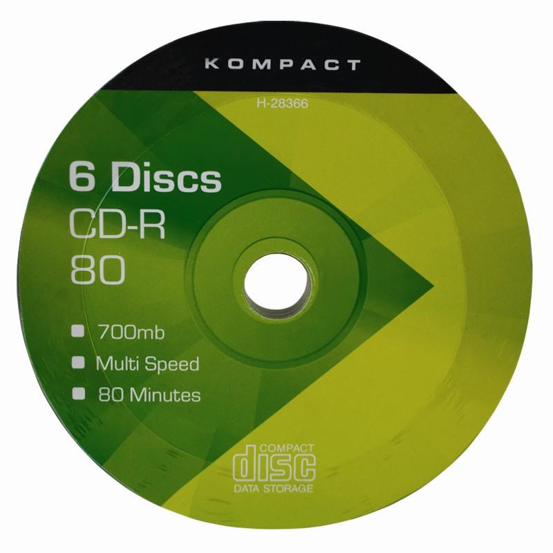 6 cd r discs 700mb 80 minutes capacity pc data video cd music recording cdr ebay. Black Bedroom Furniture Sets. Home Design Ideas