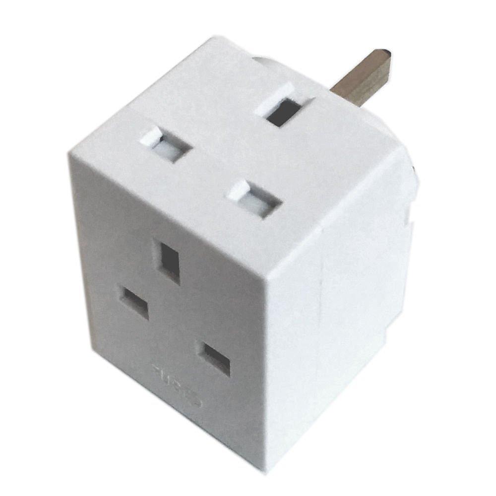 3 way plug adaptor 13 amp extension electronics multi socket plug adapter
