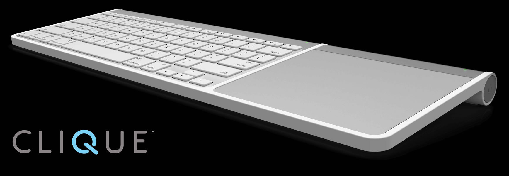 henge docks clique connects apple 39 s wireless keyboard and magic trackpad dock. Black Bedroom Furniture Sets. Home Design Ideas