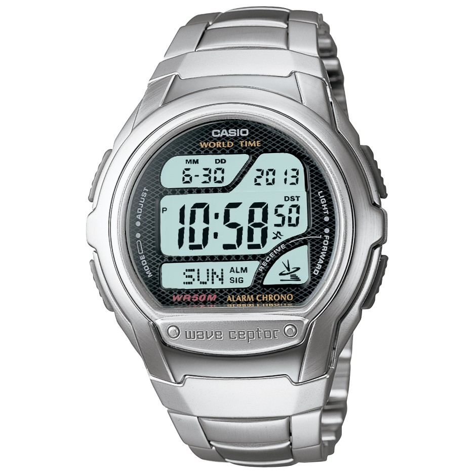 Casio Wave Ceptor Digital Radio Controlled Atomic Watch