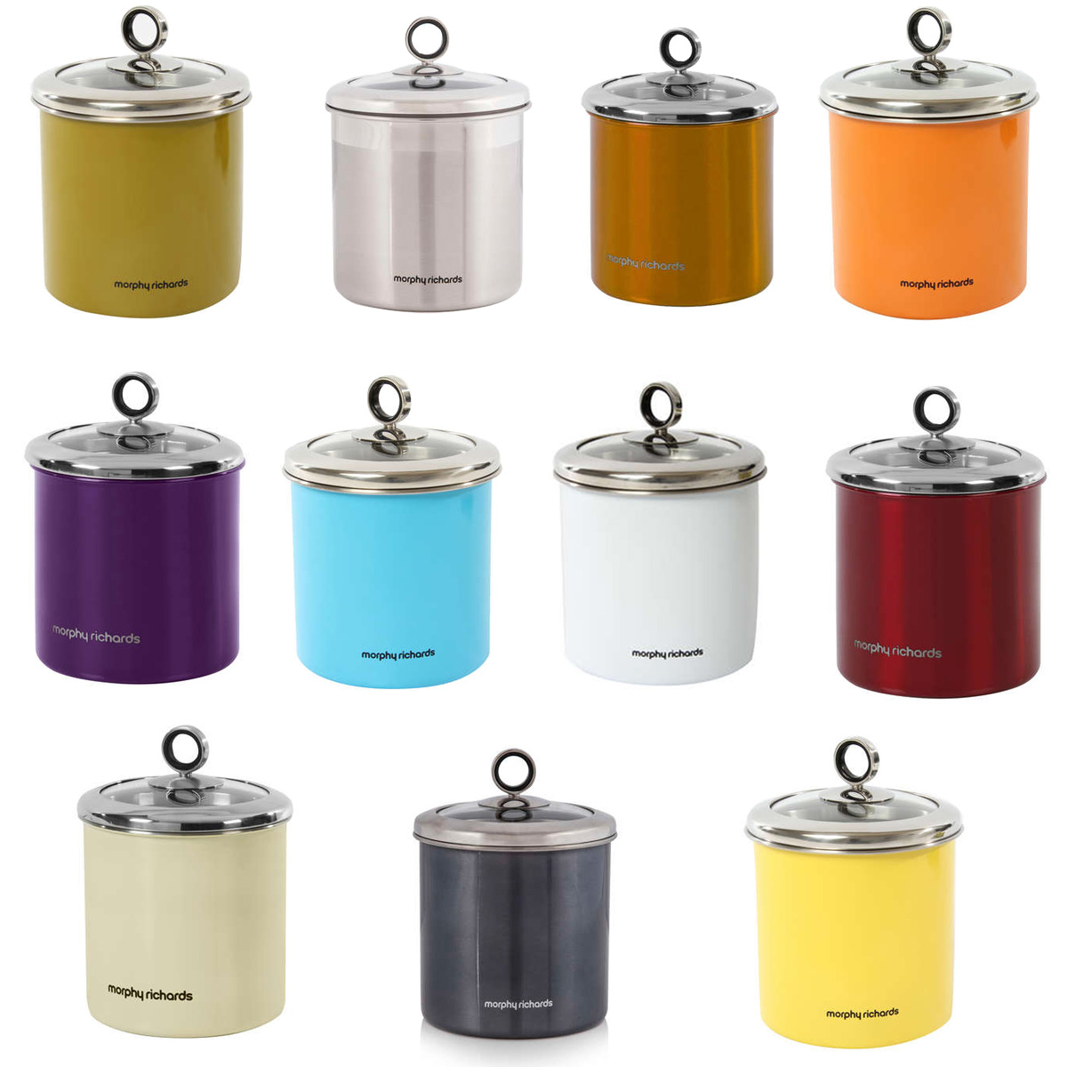 kitchen storage canisters images pantry set of 3 round glass storage canister with lid
