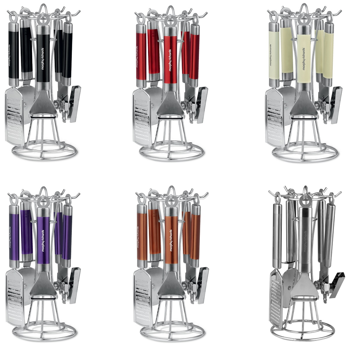 New Morphy Richards Stainless Steel Kitchen Utensils Cooking Stand Gadget Set Uk Ebay