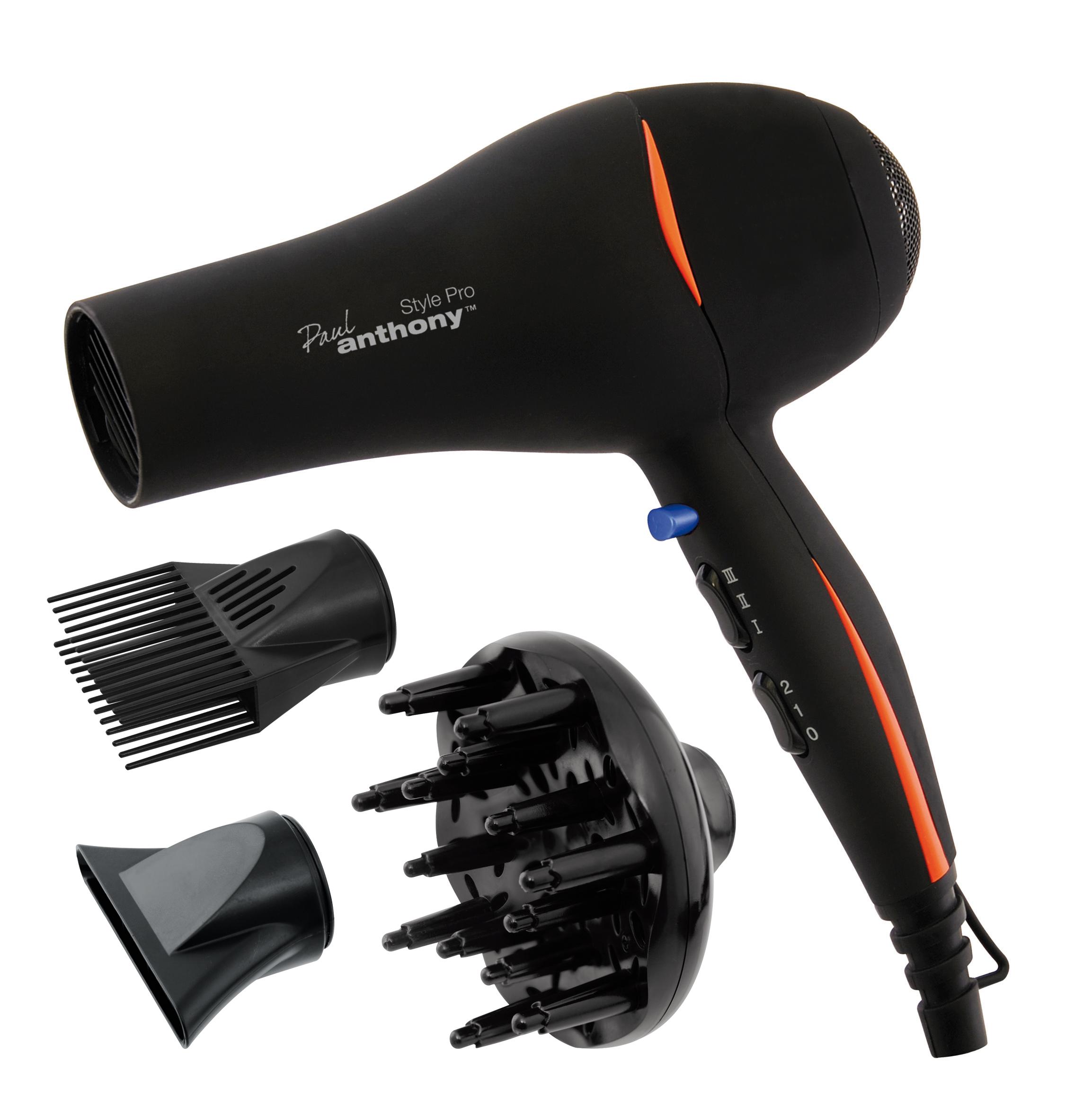 Hair Dryer Diffuser ~ New lloytron black paul anthony style pro w hair dryer
