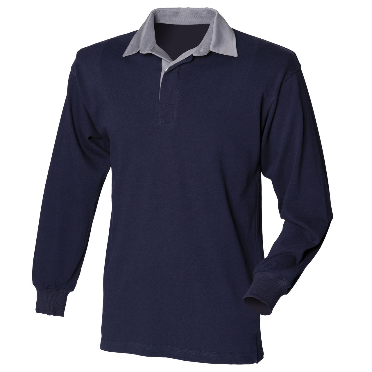 New front row mens long sleeve rugby shirt casual collared for Mens casual collared shirts