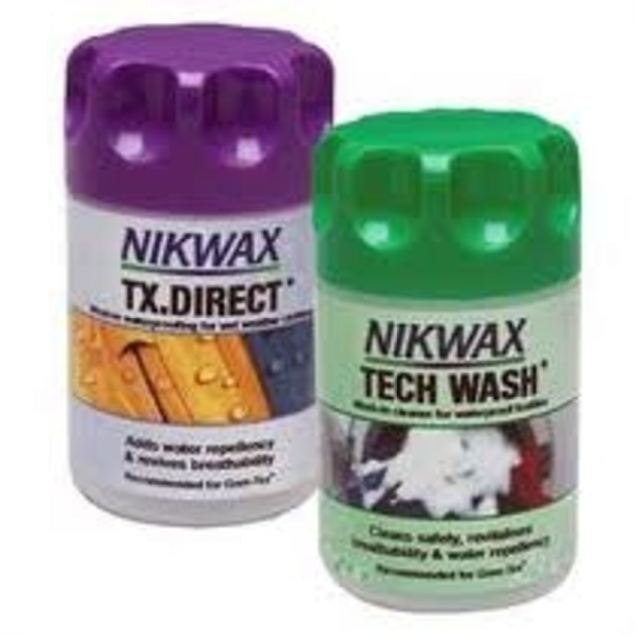 Nikwax Clothing Tech Wash TX Direct Mini Twin Waterproof Textiles Pack