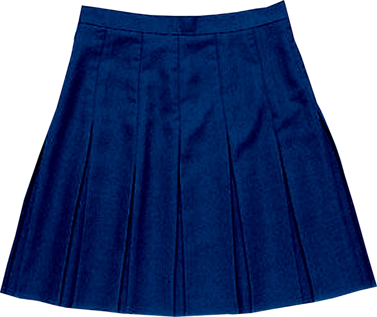 school uniform girls stitched down box pleat skirt only