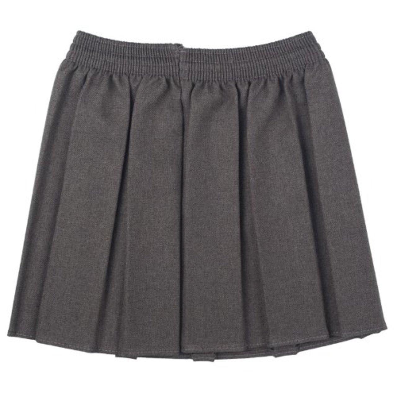 Girls School Uniform Box Pleated Elastic Skirt Summer ...