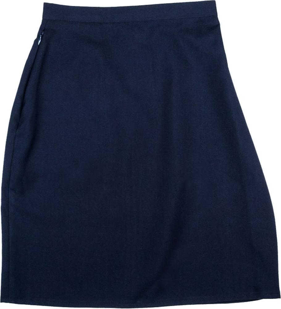 Girls Ladies A Line Plain Pencil Skirt School Work Uniform Skirt Black Grey Navy