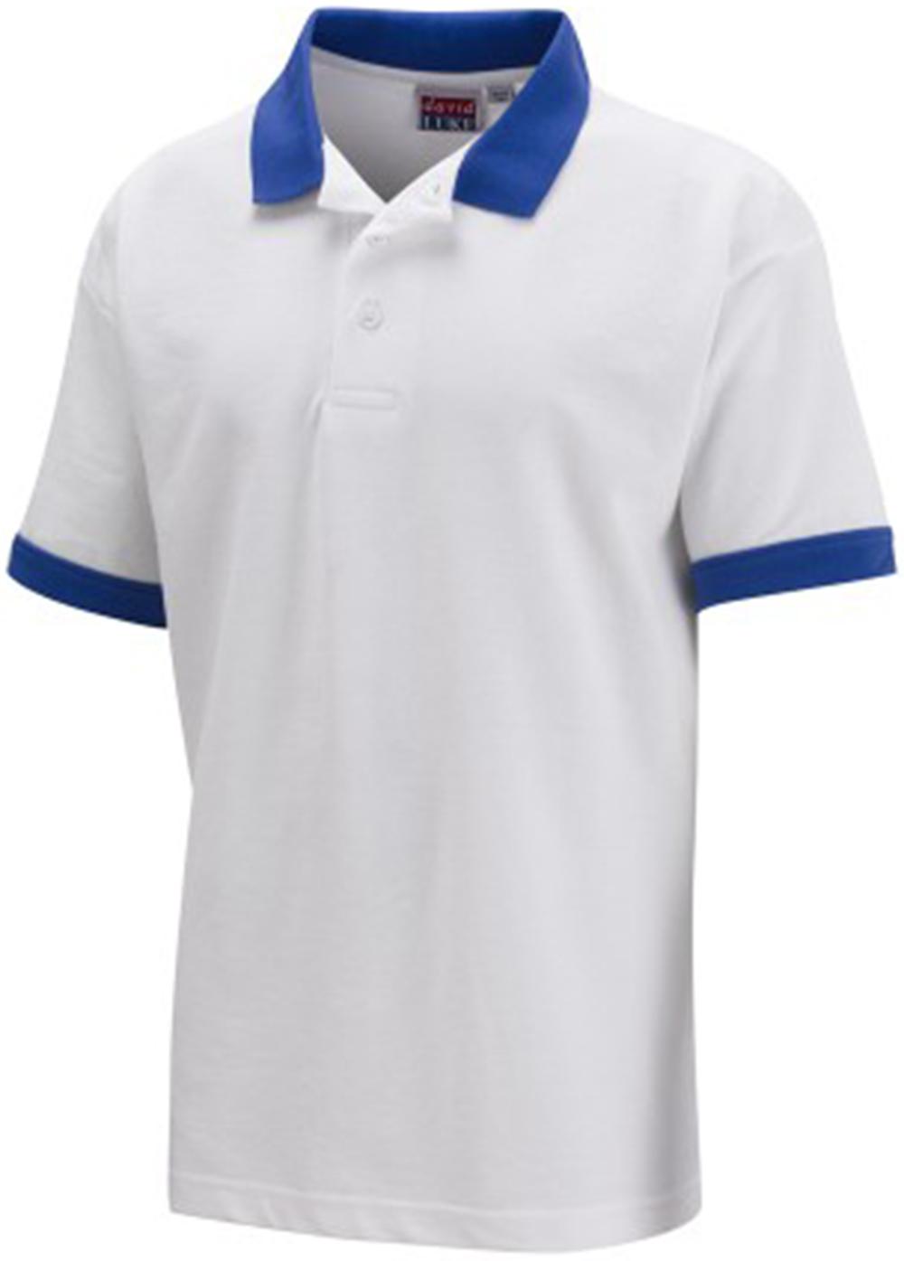 Kids School Wear Children School Uniform Shirt Contrast Collar Cuff Poloshirt UK