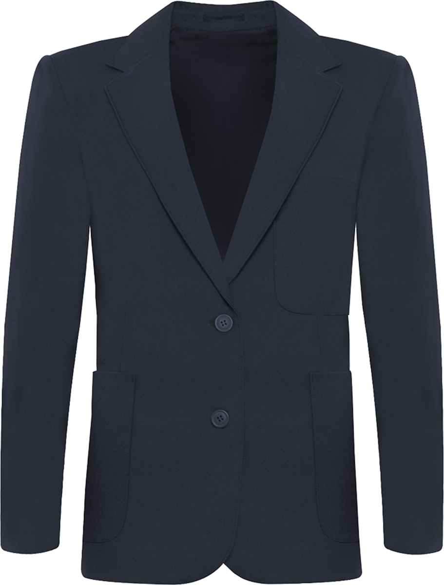 Girls Jnr Snr School Uniform Jacket Coat Viscount Two Button Zip Entry Blazer