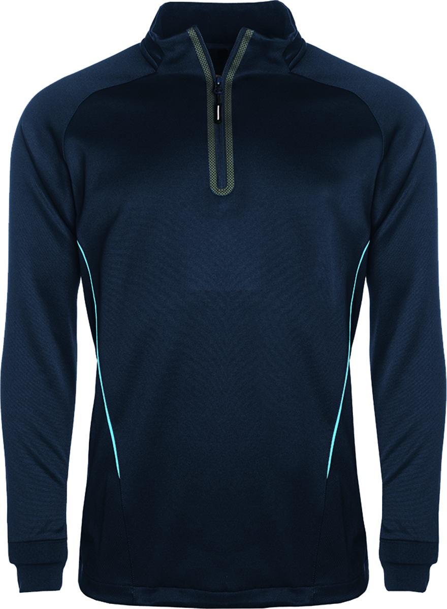 Aptus Qtr Zip Long Sleeve Mens Training Top Shirt Senior Junior