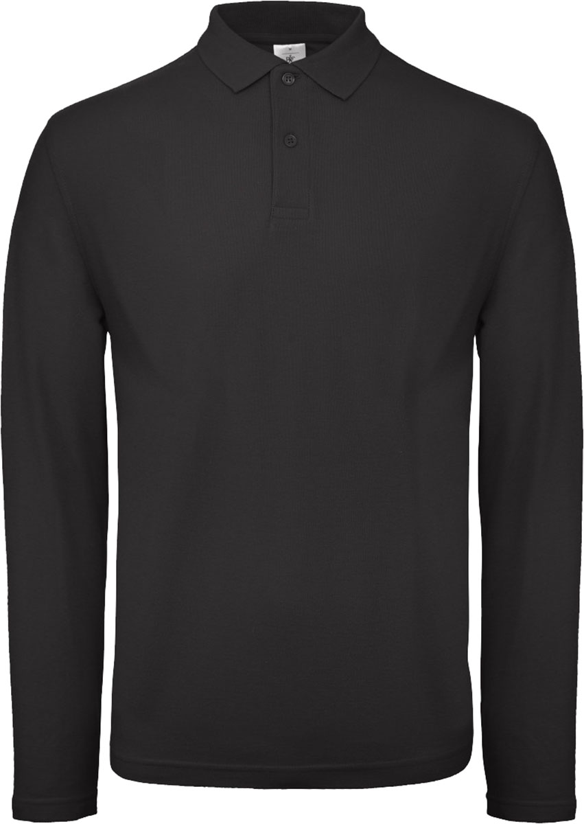 B/&C ID.001 Mens Long Sleeve Polo Shirt PUI12