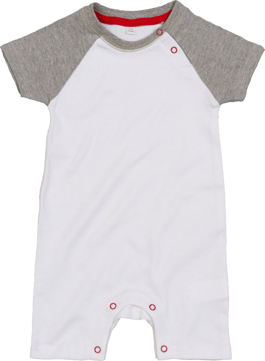 Babybugz Baby Baseball Playsuit Short Raglan Sleeve Stretchy 100/% Cotton Top
