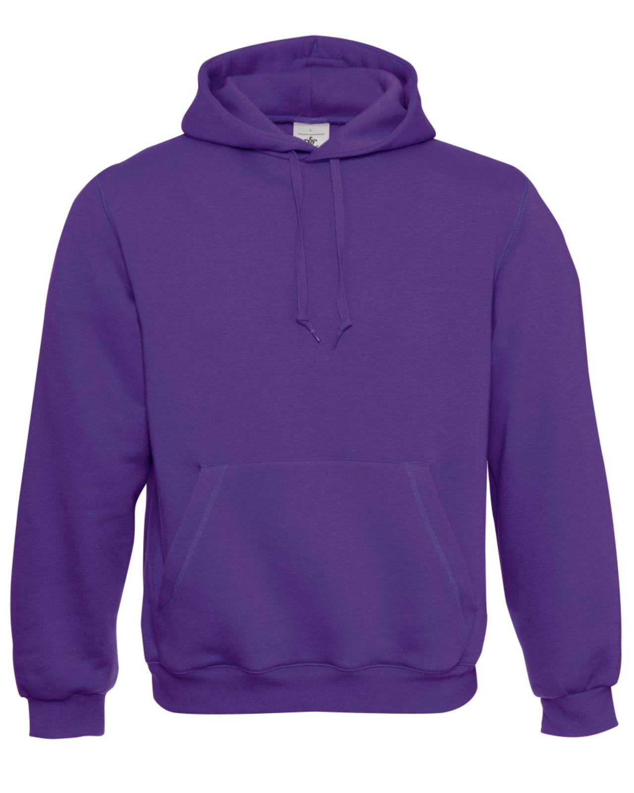 B&C WU620 Adult Hooded Sweatshirt Plain Pullover Hoody Hoodie ...