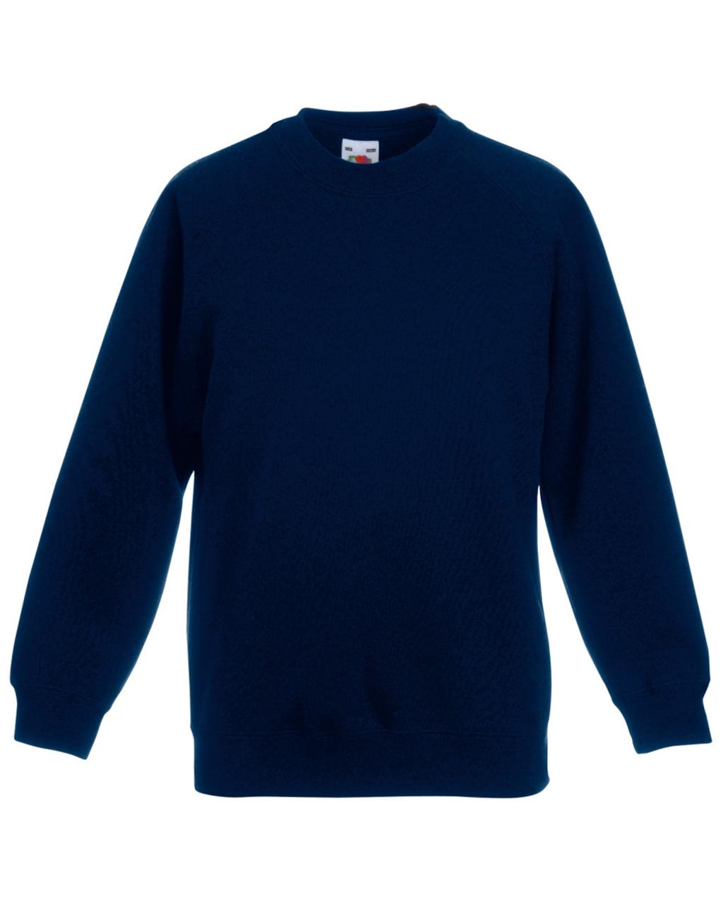 Fruit of the Loom Kids Raglan Sweatshirt Sweater Jumper Plain Top ...