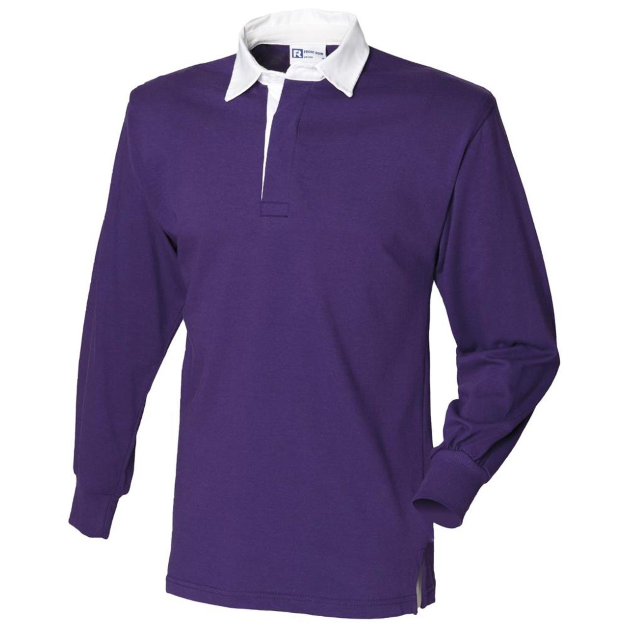 Front Row Long Sleeve Classic Rugby Shirt Mens Casual Collared ...