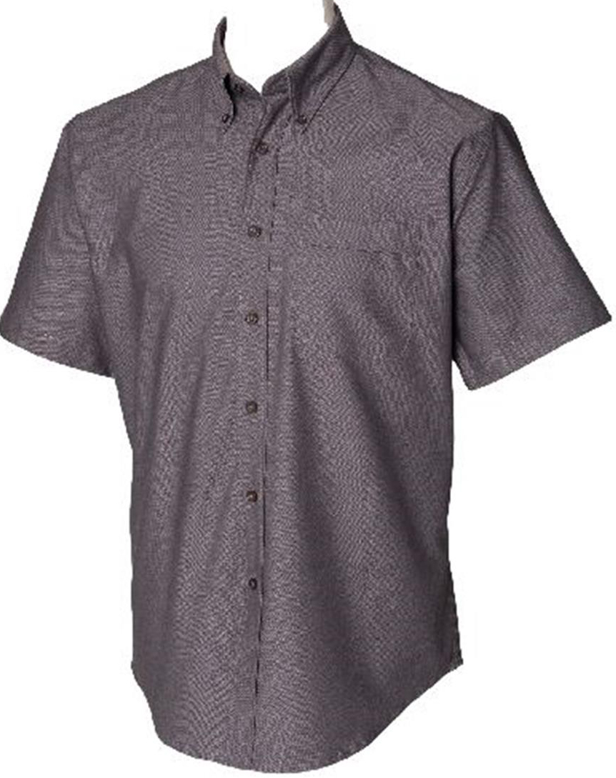 Henbury button down collar mens short sleeve classic for Men s oxford button down shirts