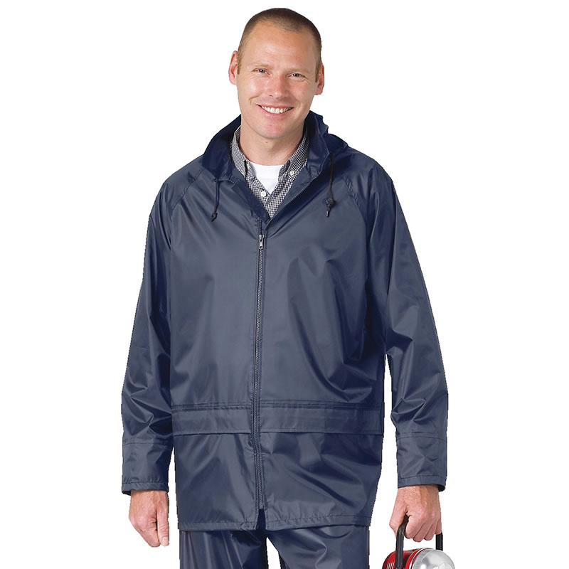 Portwest Classic Rain Jacket (S440) Mens Waterproof Nylon Work ...