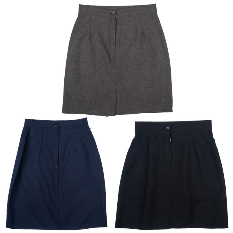 ... Womens-School-Uniform-Work-Plain-Skirt-Pack-of-2-Size-5yrs-Ladies-Size