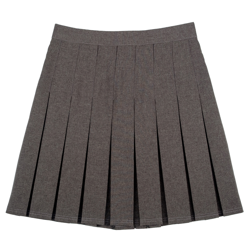 new school knife pleat plain skirt pack of 2