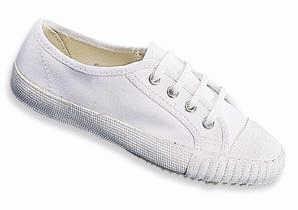 New-Unisex-Canvas-Laceup-School-PE-Plimsolls-Trainers-Gym-Pumps-Shoes-White