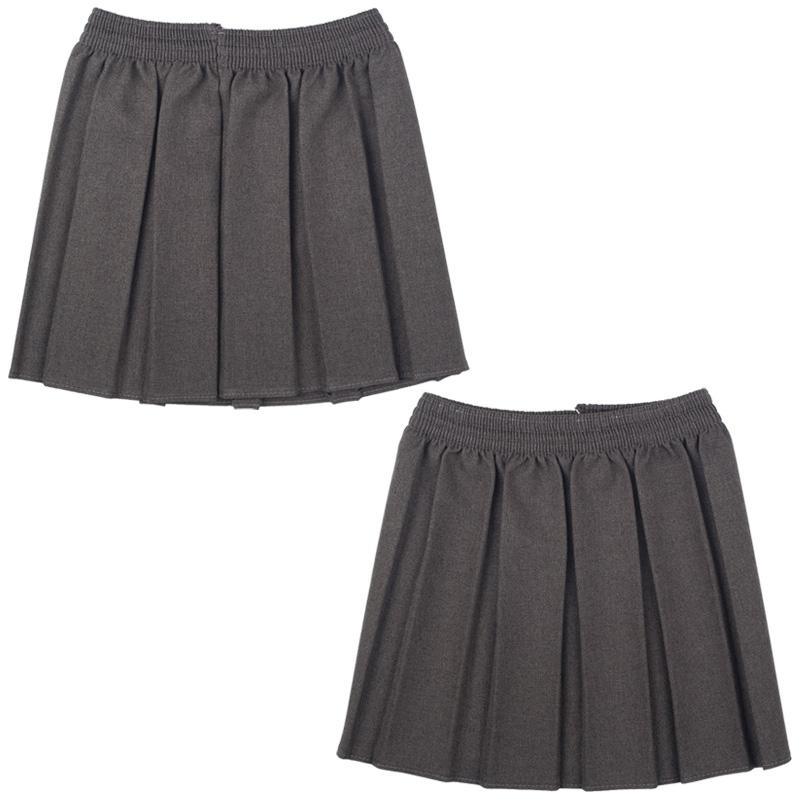 new ou school box pleated elastic skirt