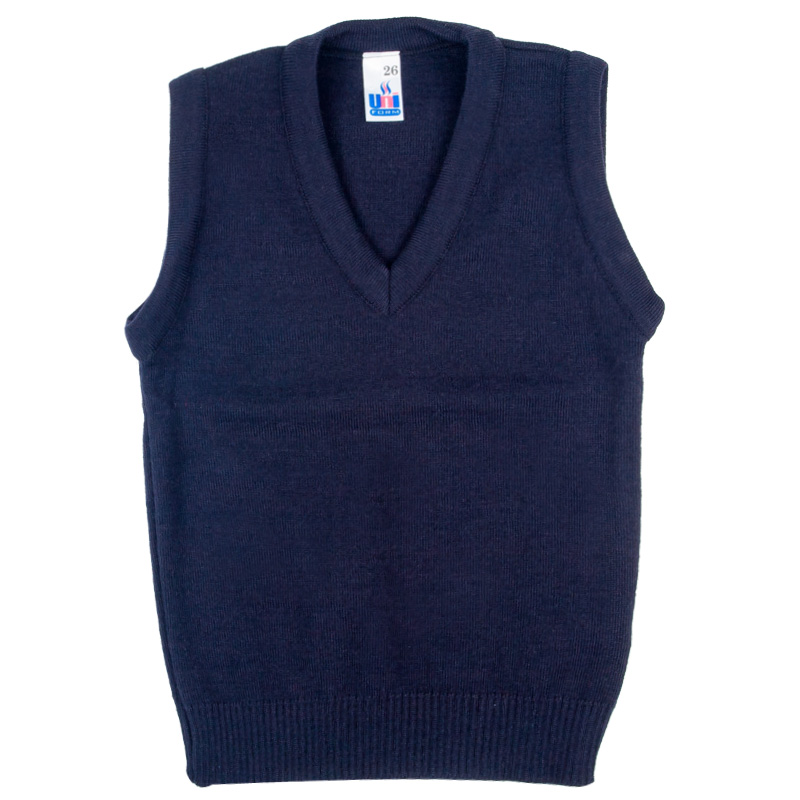New-OU-Boys-Girls-School-Uniform-V-Neck-Tank-Top-Sleeveless-Jumper-Size-2yrs-XL