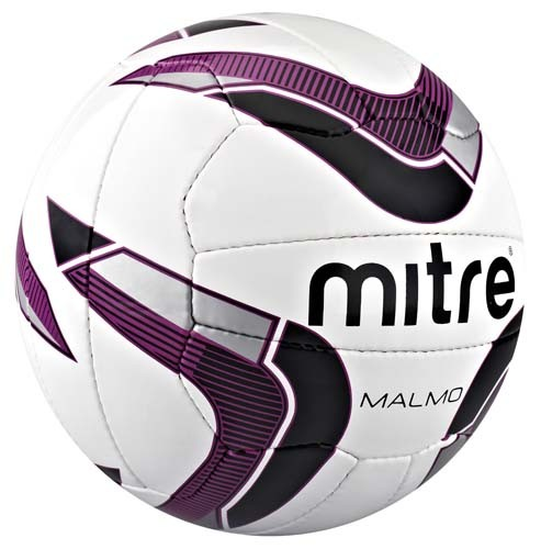 New-Mitre-Malmo-18-Panel-Soccer-Ball-Hand-Stitched-Tough-PVC-Training-Football