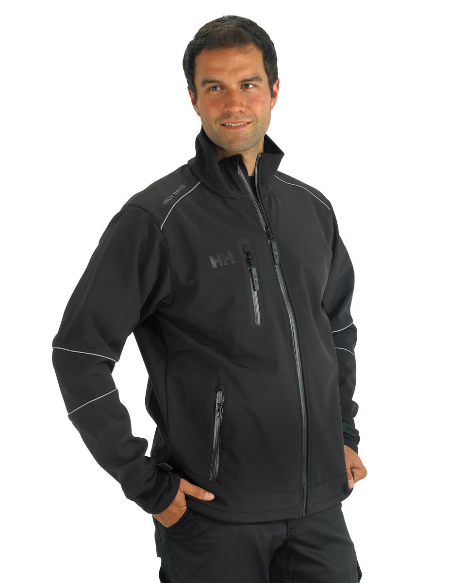 helly hansen 74008 mens workwear barcelona softshell fleece jacket size s 2xl ebay. Black Bedroom Furniture Sets. Home Design Ideas