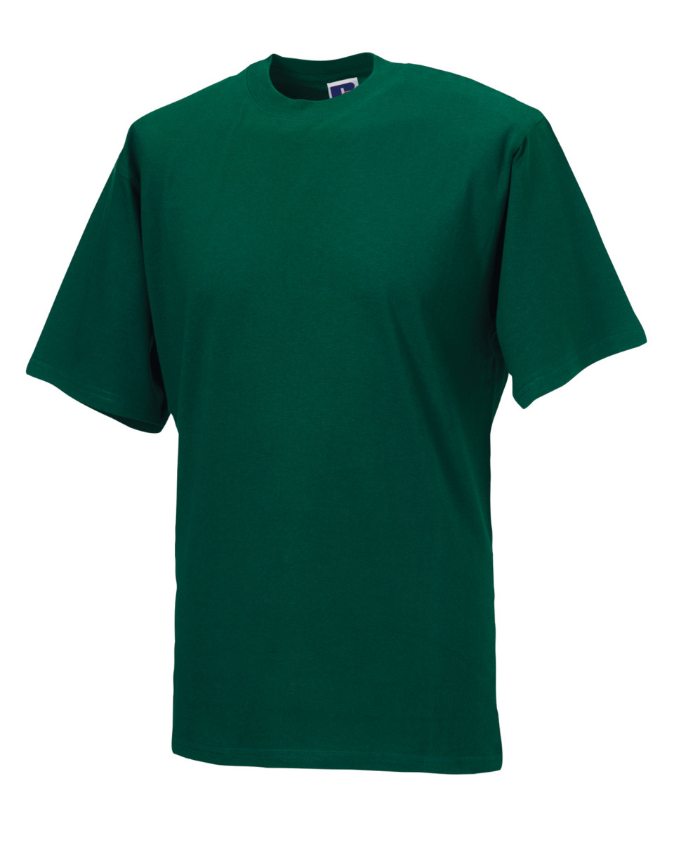 Russell zt180m classic t shirt short sleeve crew neck 100 for Mens xs golf shirts