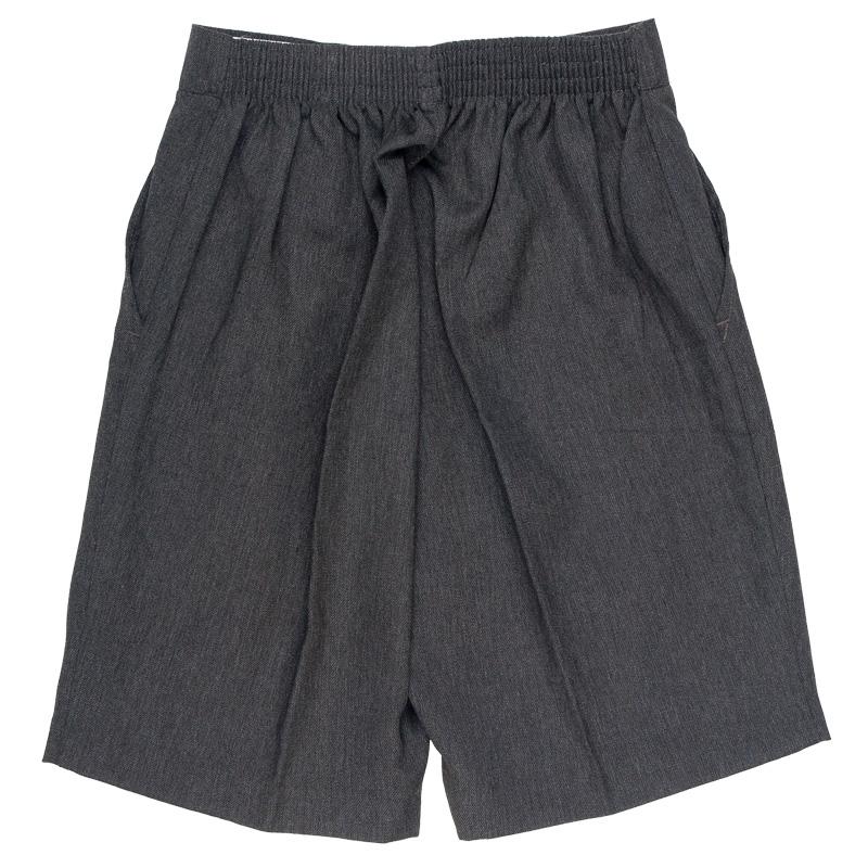 School Uniform Boys Elasticated Back Shorts Without Belt Pack of 2 Size 3-1