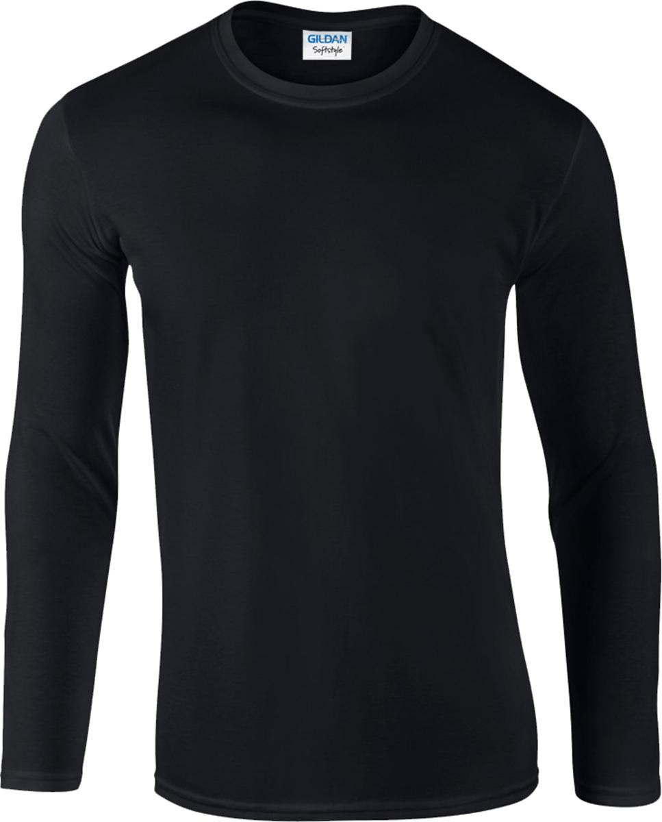 Gildan Softstyle Men's Long Sleeve T-Shirt 100% Cotton Plain ...