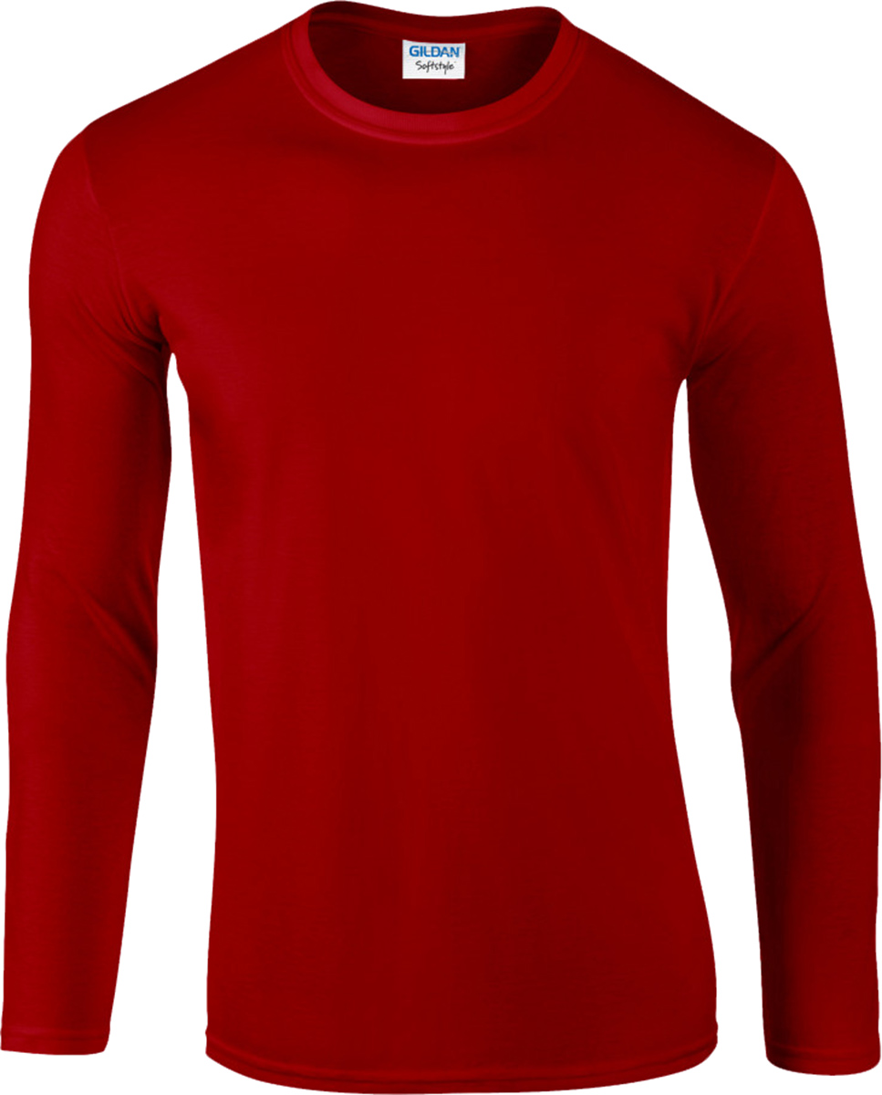 Gildan Softstyle Men's Long Sleeve T-Shirt 100% Cotton Plain ...