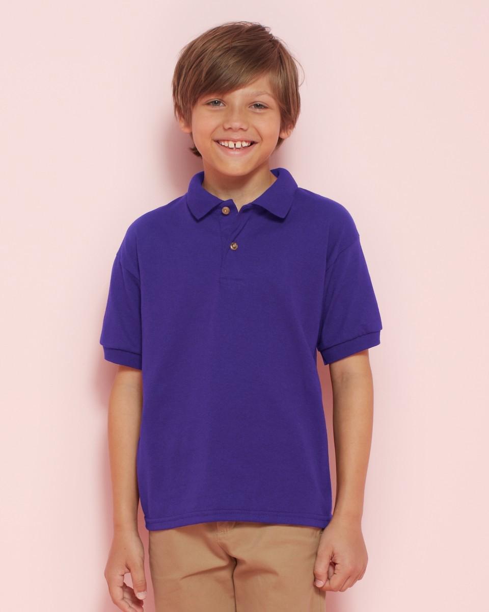 New-Gildan-DryBlend-Childrens-Jersey-Kids-Wear-Contured-Welt-Collar-Polo-Shirts