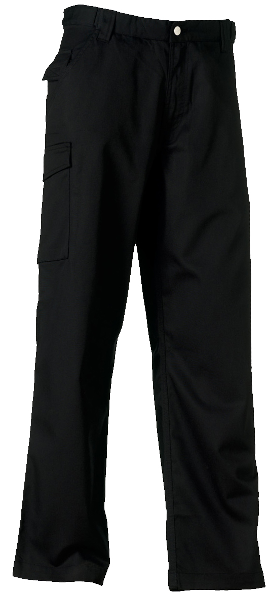 001M Tall Russell Mens Polycotton Cargo Combat Twill Trouser Workwear Pants
