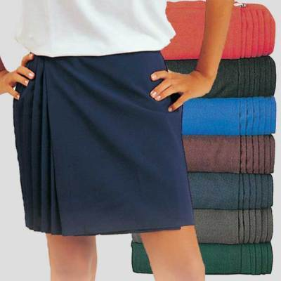 netball sports pleated wrapover skirt