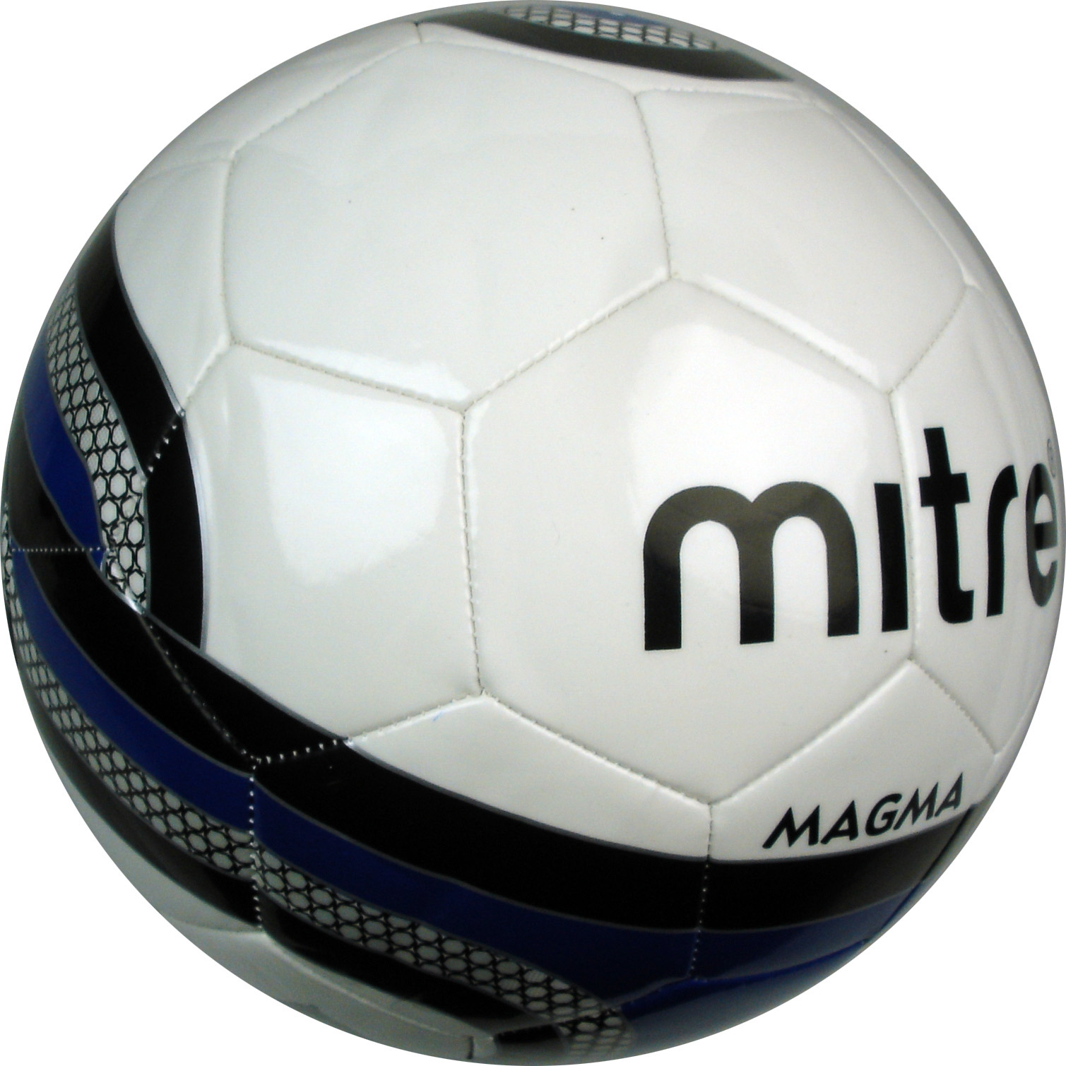 Brand-New-Mitre-Magma-32-Panel-Training-Size-3-4-5-White-black-navy-Ball