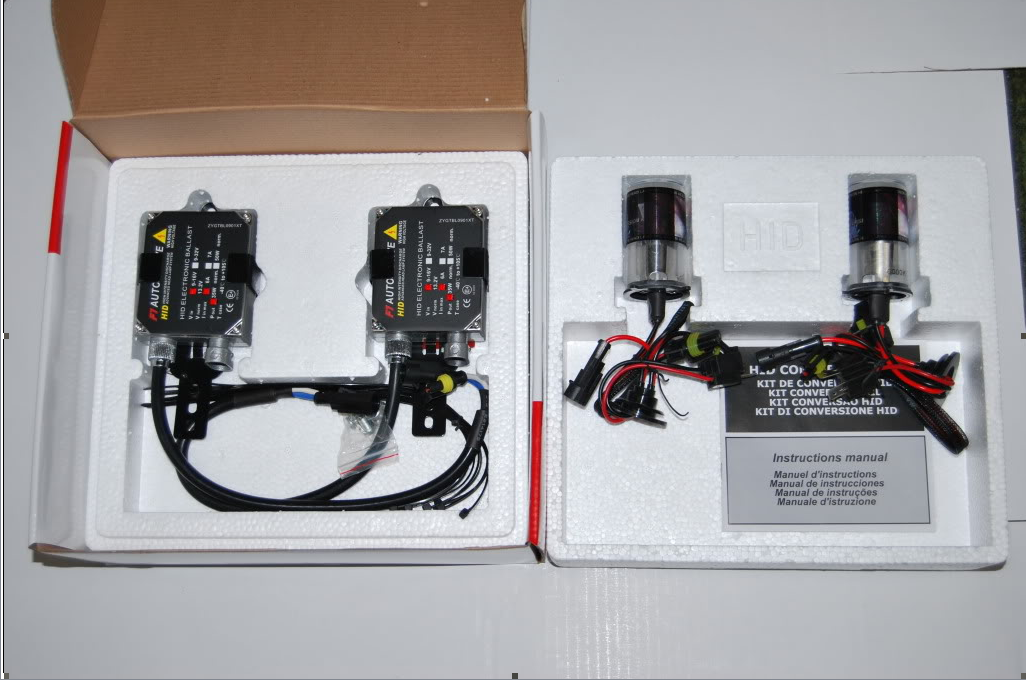 HID Xenon Conversion/Headlight/Headlamp Slim Kit 6000K 35W Ballast ...