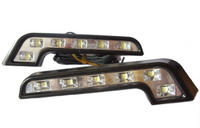 View Item L SHAPE DRL LED DAYTIME RUNNING LIGHTS MERCEDES STYLE