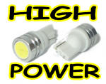 View Item WHITE LED HIGH POWER 501 W5W 194 T10 BULBS 1W UK