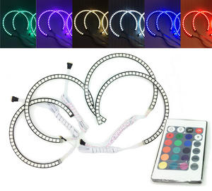 4x RGB LED Angel Eye Halo Rings Light remote control BMW E46 coupe/cabrio 99-03 Preview