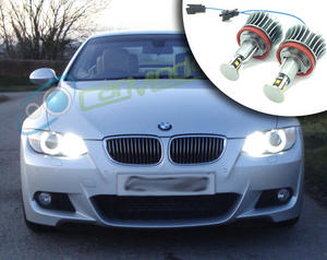 H8 BMW LED Angel Eye Upgrade 20W Cree 4 LED 40W Total Lighting Replacement Part Preview