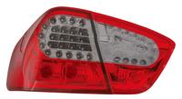 View Item Back Rear Tail Lights for BMW E90 (saloon, 12/04-08/09), in red-black with LED pair