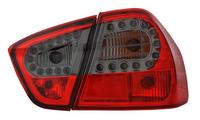 View Item Back Rear Tail Lights for BMW E90 (saloon), in red-black (crystal-Look) with LED pair - Version II