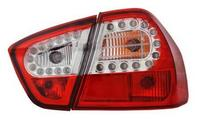 View Item Back Rear Tail Lights for BMW E90 (saloon), in red-clear (crystal-Look) with LED pair - Version II