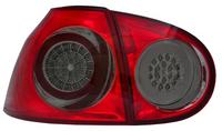 View Item Back Rear Tail Lights for VW Golf V, in red-black, with LED pair