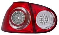View Item Back Rear Tail Lights for VW Golf V, in red-clear, with LED pair