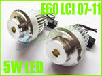 View Item BMW 5 SERIES WITH HALOGEN HEADLIGHTS E60 E61 5W CREE LED ANGEL EYE UPGRADE
