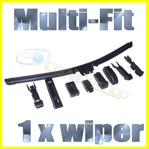 AERO FLAT WIPER BLADE - MULTI FIT - SIDE PIN PINCH TAB ETC.. ALL SIZES Preview