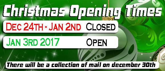 Christmas opening times